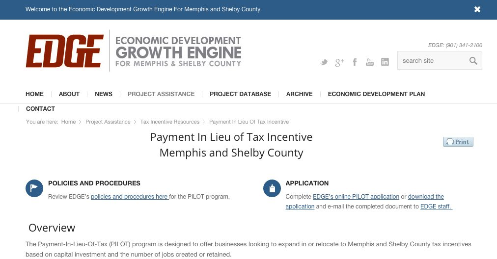 growth-engine payment in lieu of tax