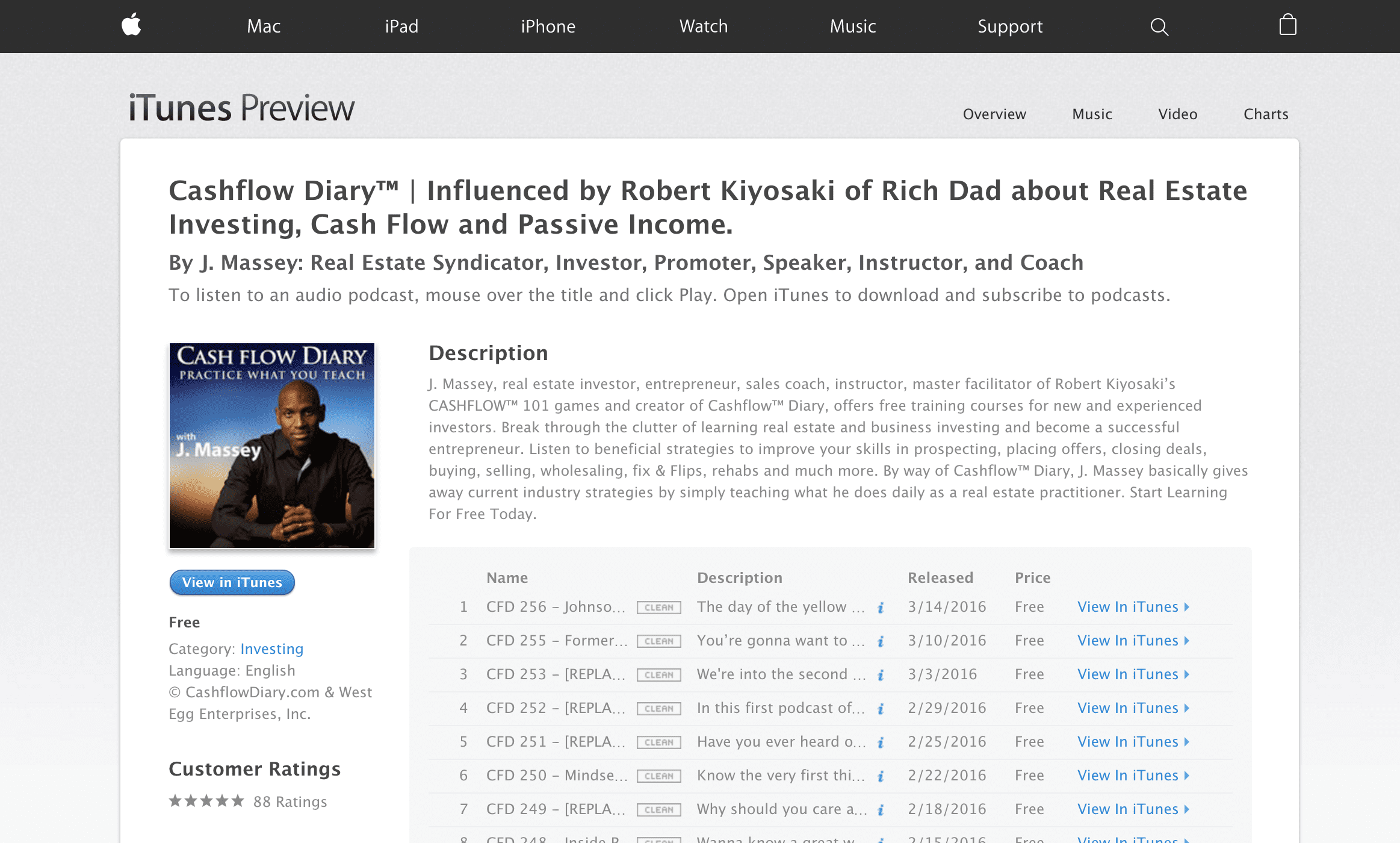 cashflow diary podcast