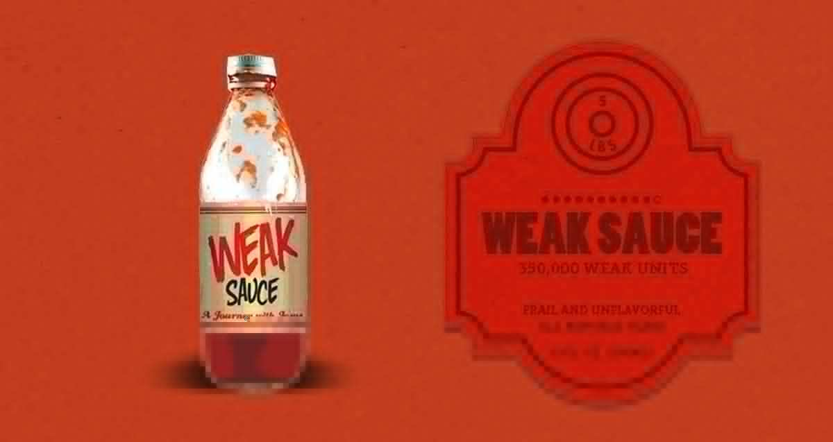 Weak Sauce Bottle
