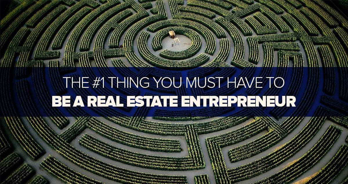The #1 Thing You Must Have To Be a Real Estate Entrepreneur and How To Know When You Have It!