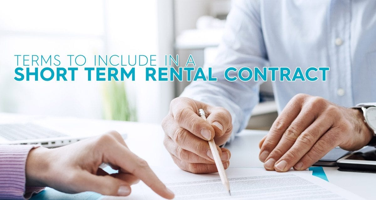 Important Terms To Include In A Short Term Rental Contract