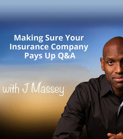 making sure your insurance company pays up